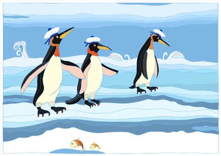 arctic: penguins Illustration