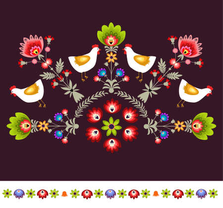 Embroidery pattern Vector