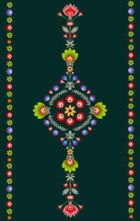 Diseño de bordado polaco