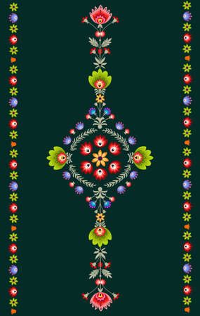 folk art: Polish embroidery pattern