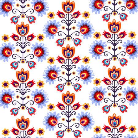 floral folk background