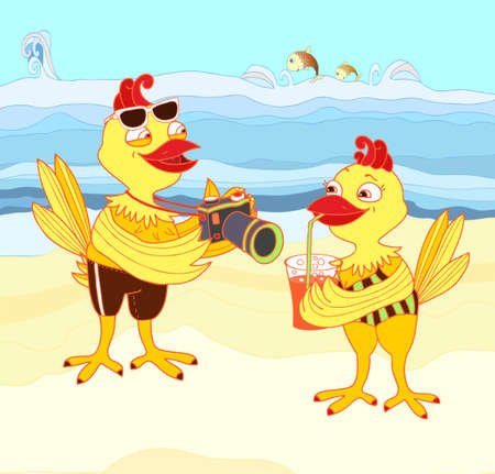 Chickens on vacation