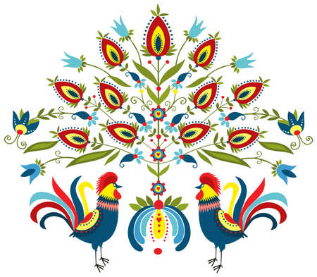 embroidery roosters
