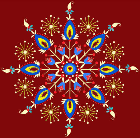 polish embroidery - star Vector