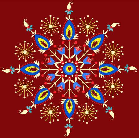 polish embroidery - star Illustration
