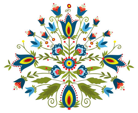 Polish embroidery design - inspiration Vector