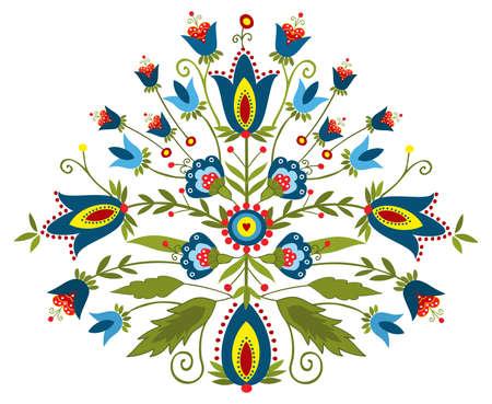 Polish embroidery design - inspiration Illustration