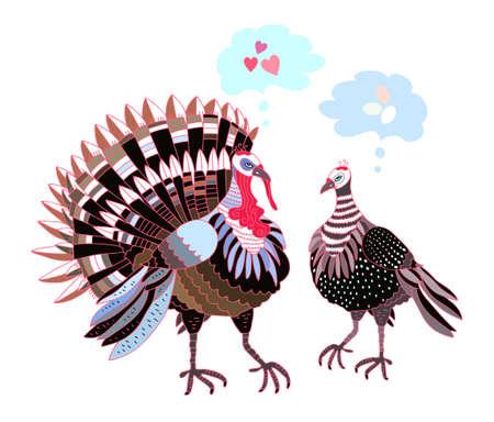 guinea fowl: Turkeys