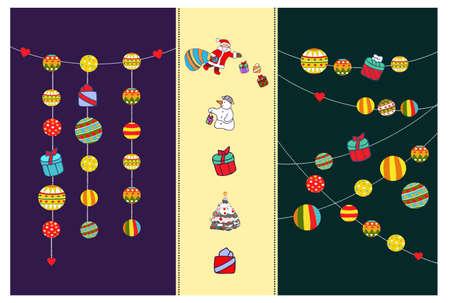 Happy hanging Christmas set
