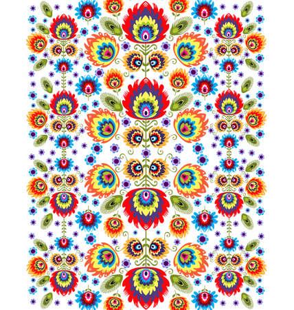 Folk Pattern With Flowers Three