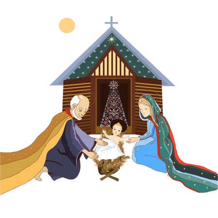nativity scene: NativityScene Illustration