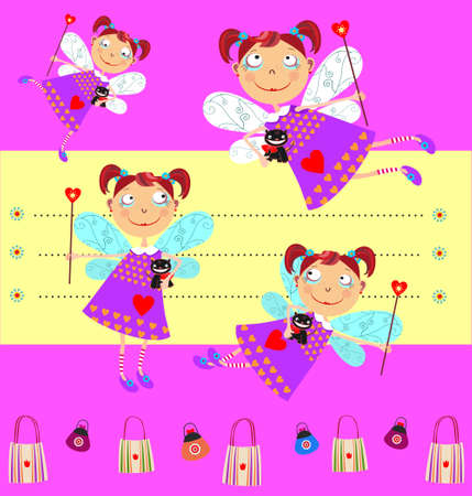 sweetened: Fairy With Cat - different poses
