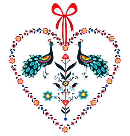 Love Peacocks  Vector
