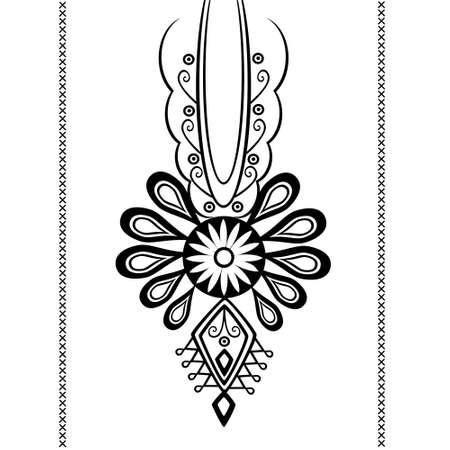 polish folk pattern - parzenica Ilustrace