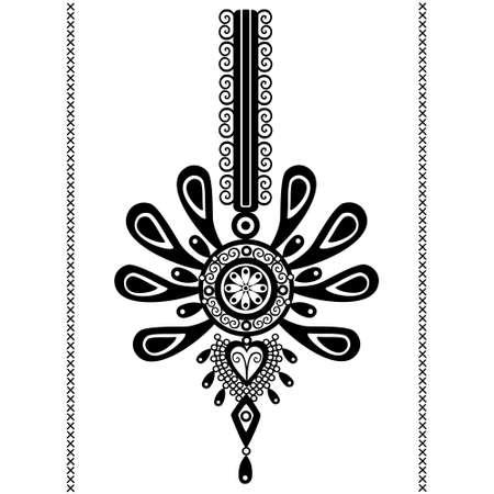 polish folk pattern - parzenica Illustration