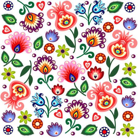 bordado: patrón folklórica de pulido Vectores