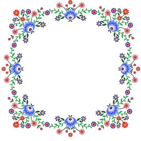 bordados: etiqueta popular patrón