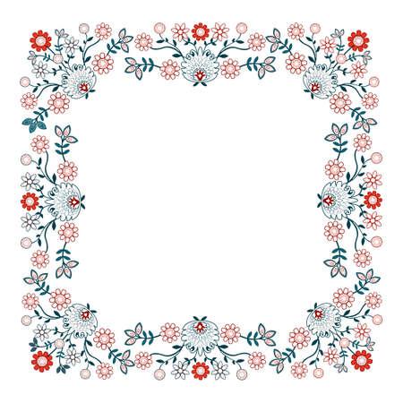 polish pattern folk label in white bacground