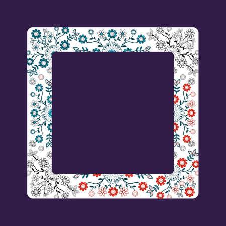 polish pattern folk- label in dark background Ilustrace