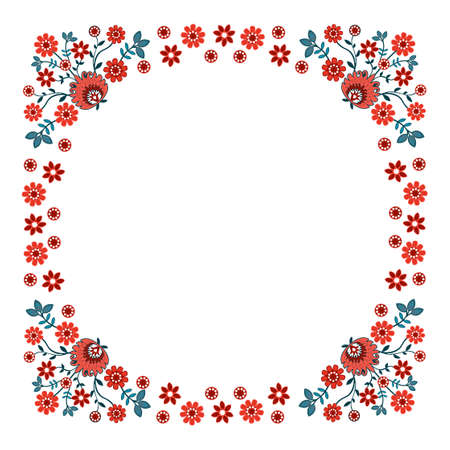 polish folk pattern - label