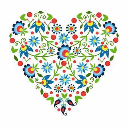 folk pattern in Kaszuba - heart