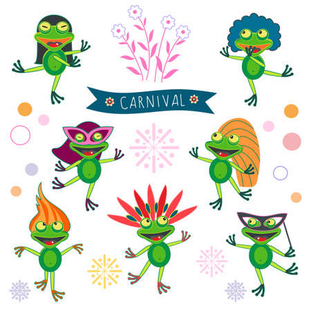 carnival of crazy frogs Illustration