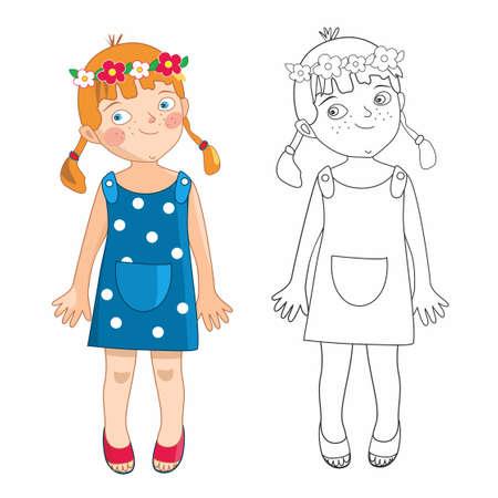 Eve little girl Illustration