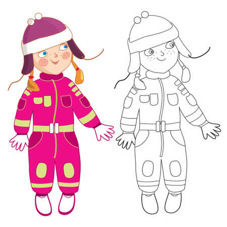 Eve little girl Ilustrace