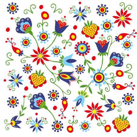 polish folk pattern background - Kaszuby Ilustrace