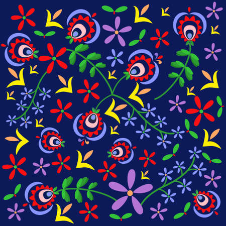 polish folk pattern background - Podhale