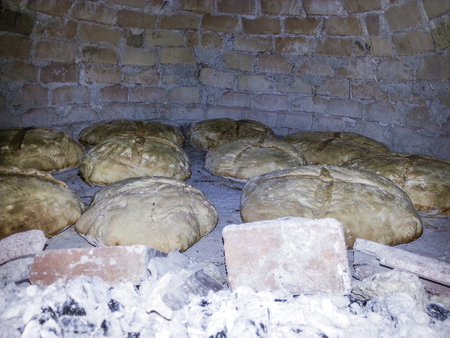 home-made bread baked in the old wood oven