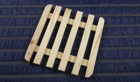 trivet: wooden trivet Stock Photo