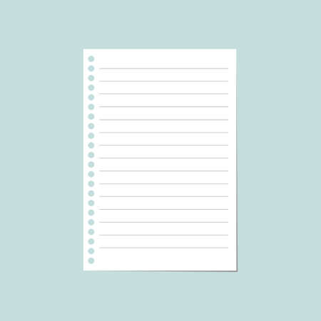 ruled: notebook paper sheet