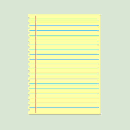 ruled: Yellow lined paper