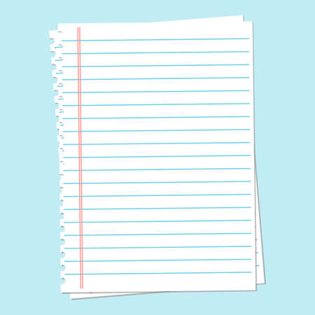 hoja de papel de cuaderno