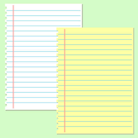 college ruled: Yellow and white lined paper. School notebook paper