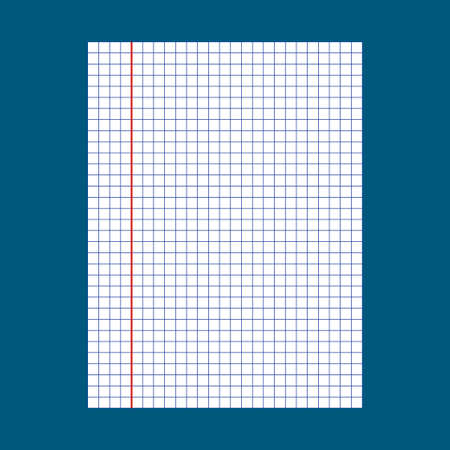 notebook paper: Notebook squared paper. School notebook paper Illustration