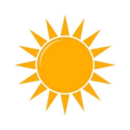 Icône de prévisions météo, vecteur. Illustration vectorielle de temps ensoleillé