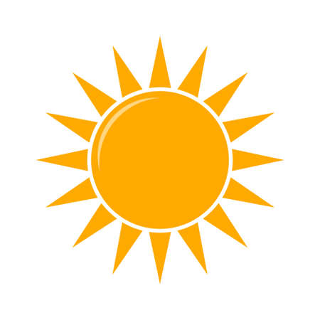 Weather forecast icon, vector. Sunny weather vector illustration