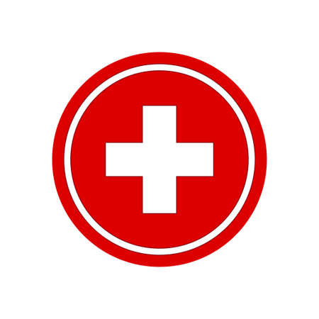 Signe plus de soins de santé. Illustration vectorielle de symbole médical