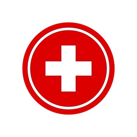 Signo más de salud. Ilustración de vector de símbolo médico