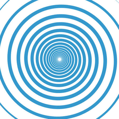 Blue water rings. Sound circle wave effect