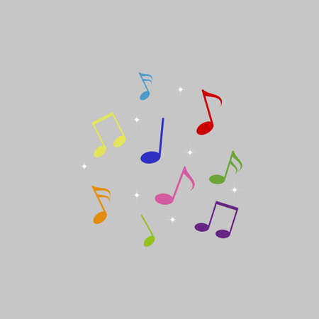 Musical note symbol vector illustration. Abstract music background Illustration