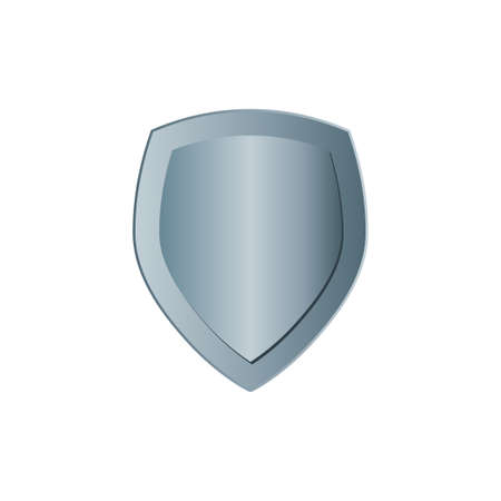 Protected steel guard shield concept. Safety badge steel icon