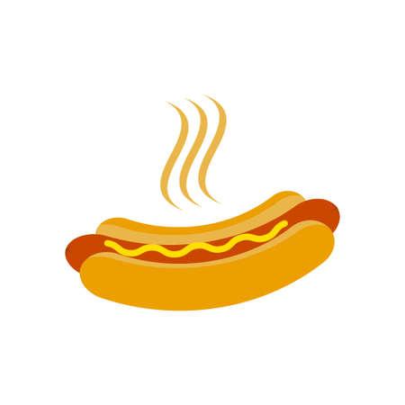 Hotdog icon vector illustration. Hot dog symbol illustration