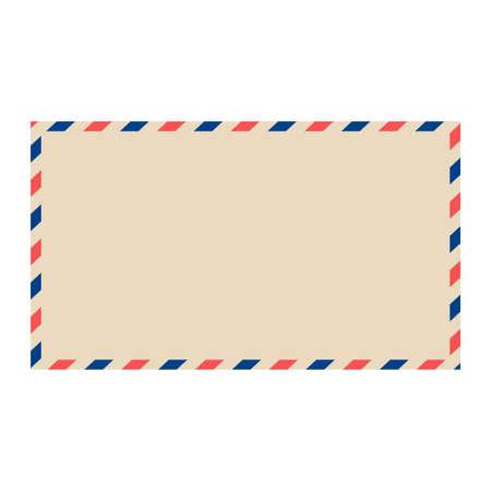 Busta di posta aerea di vettore. Busta postale vuota