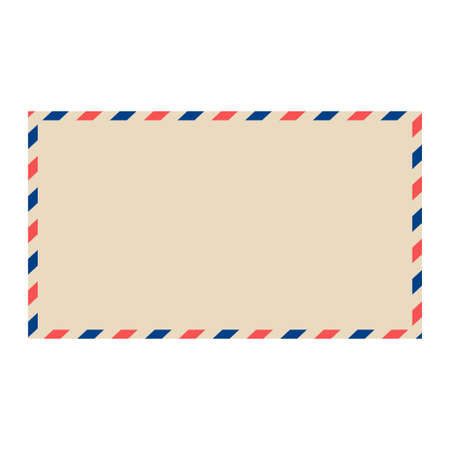 Vector air mail envelope. Blank postal envelope