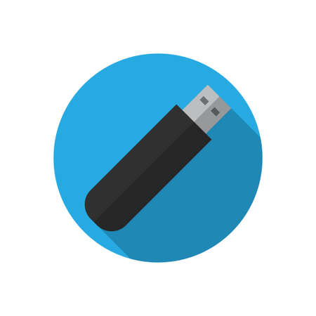 USB flash drive icon. The information carrier. Vector illustration