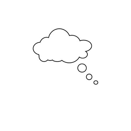 Speech bubble icon. Thinking speach bubble vector. Thought cloud 向量圖像