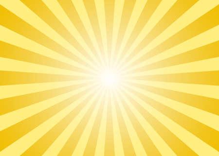 Abstract yellow sun rays background. Vector illustration Çizim